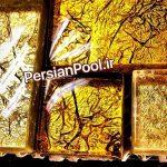 سرامیک -موزائیک گلس-شیشه ای-طلایی-اروپایی-ارزان