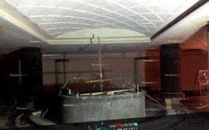 سیمانکاری سقف استخر