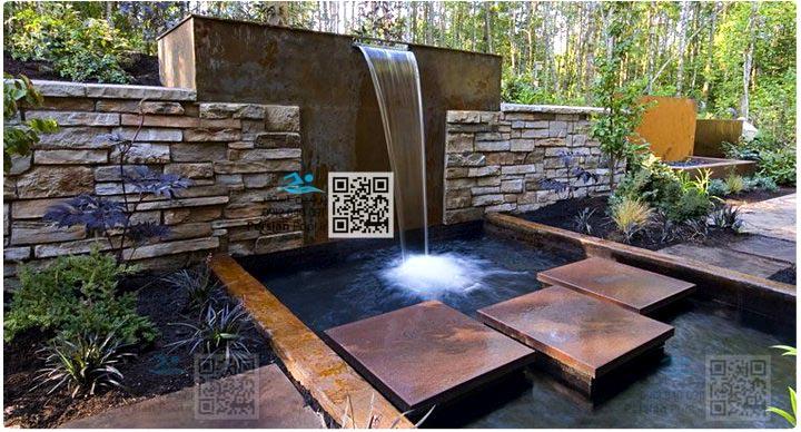 محوطه سازی - آب نما