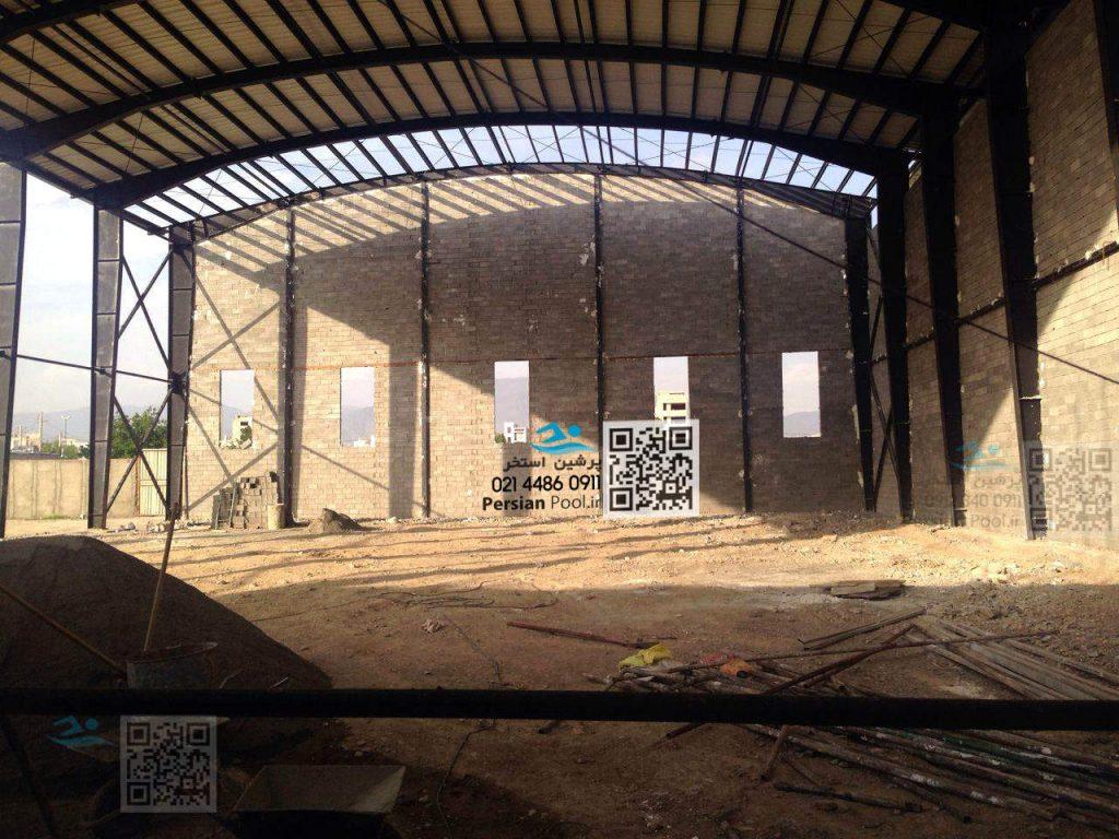 مراحل پیشرفت پروژه استخر پارک آبی کرج – فردیس