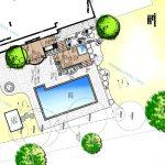 پلان و نقشه استخر و جکوزی» طراحی استخر و دیـزاین محوطـه